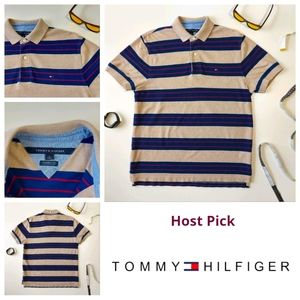 Tommy Hilfiger 👌 Classic Fit Stripped Polo Medium